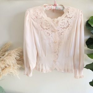 Vintage Victorian inspired cream blouse